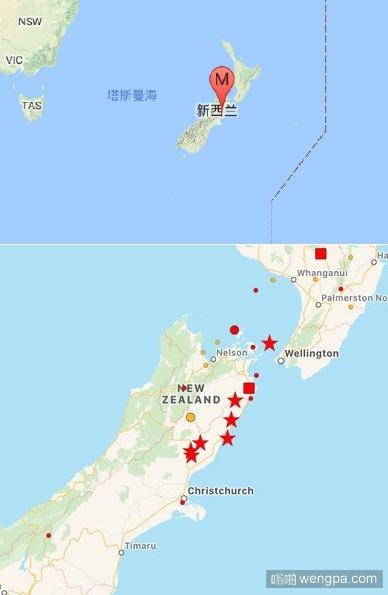 新西兰8级地震发生区域