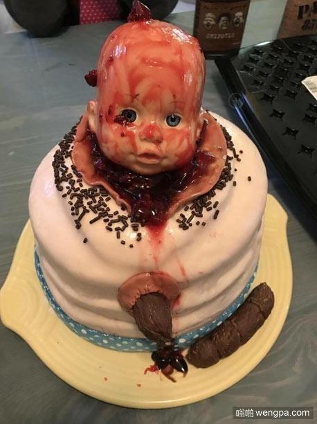 重口味蛋糕 不忍直视啊