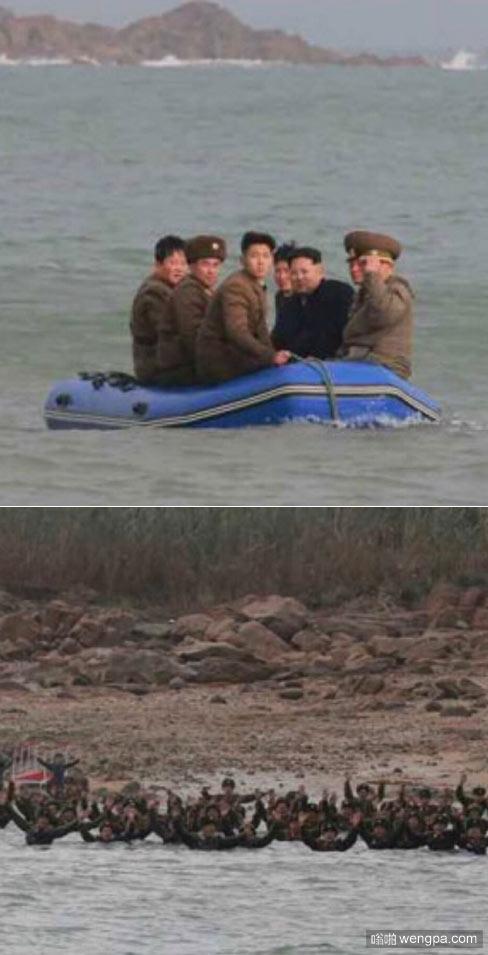 尽管海面波涛汹涌,最高司令官还是不顾劝阻,执意乘橡皮艇前往前线海岛。守岛官兵听到司令官前来的喜讯后,纷纷欢呼着冲进冰凉刺骨的海水里,渴望着司令官的到来。