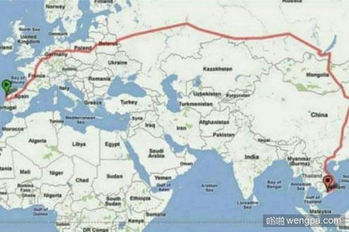 17000公里的旅行线路 火车线路横跨欧亚大陆