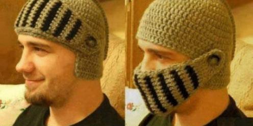 罗马兵丁头盔毛线帽