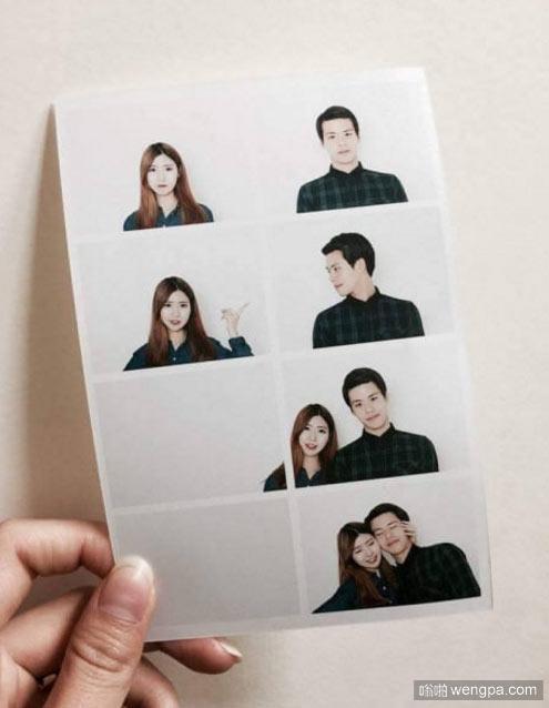 韩国现在流行这样拍秀恩爱的照片