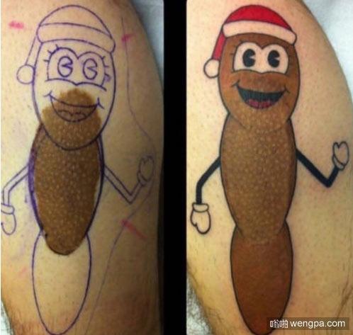 纹身艺术的价值 胎记用纹身掩盖 - 嗡啪网
