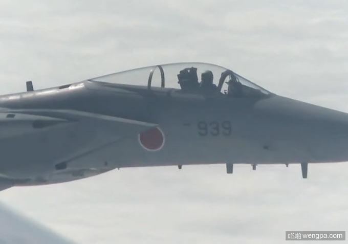 日本F-15干扰中国军机现场视频画面曝光 - 嗡啪网
