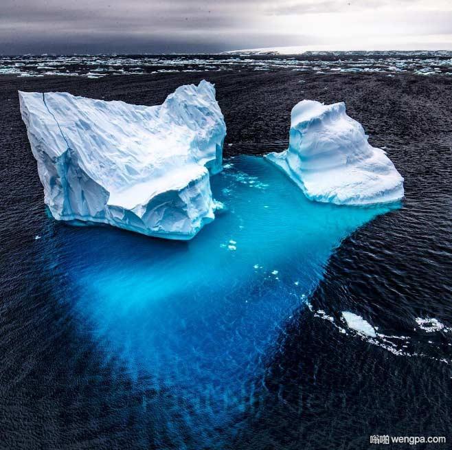 冰山一角 一般冰山几乎百分之90是在水下