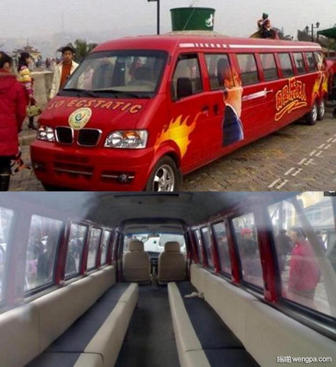 街头偶遇加长版东风小康面包车 载客能力和公交车有得一拼
