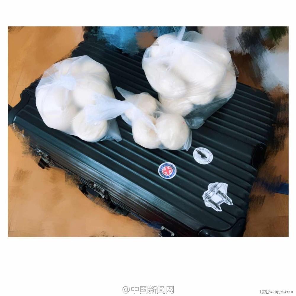 网友打开年后返程行李箱笑哭!大米馒头应有尽有