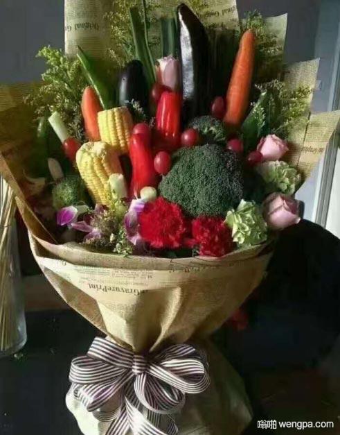 情人节蔬菜花束 有点小震撼