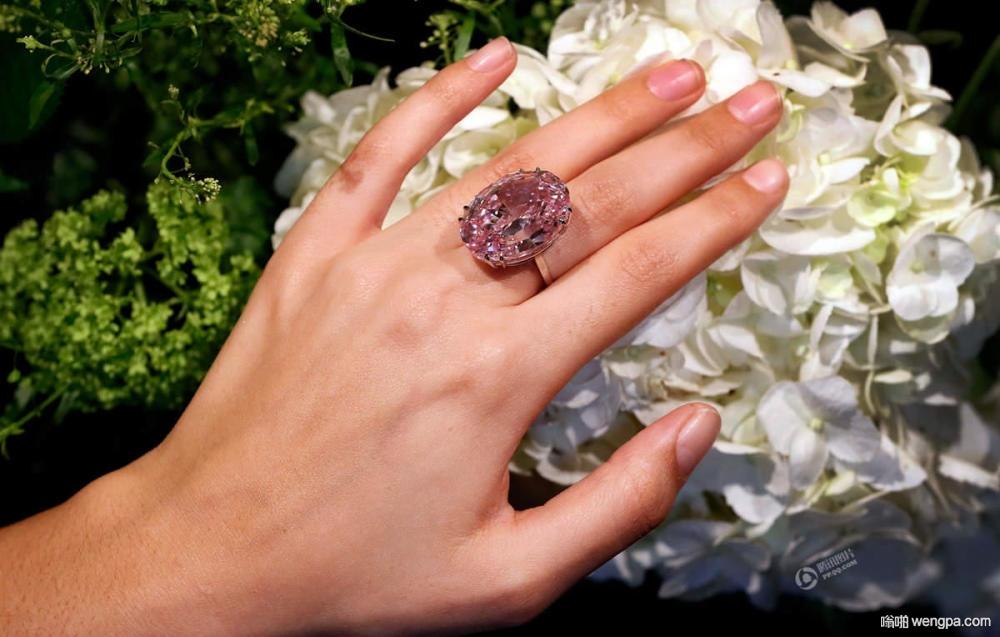 """世界最贵""""粉红之星""""钻石 重59.60克拉估价4.2亿"""
