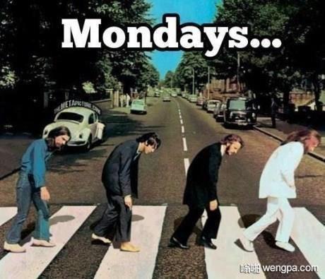 周一的你 披头士弯腰乏力ps图 搞笑图片 - 嗡啪网