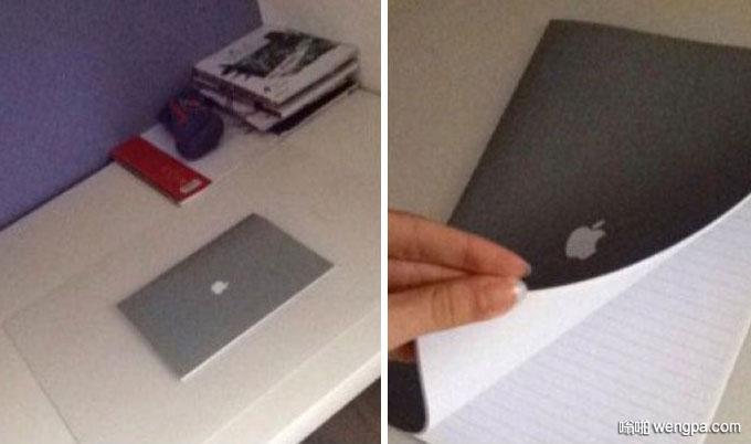 朋友说刚买了苹果笔记本 我一看还真是苹果笔记本