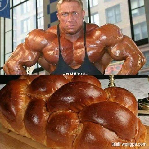 手上的面包吃不下去了