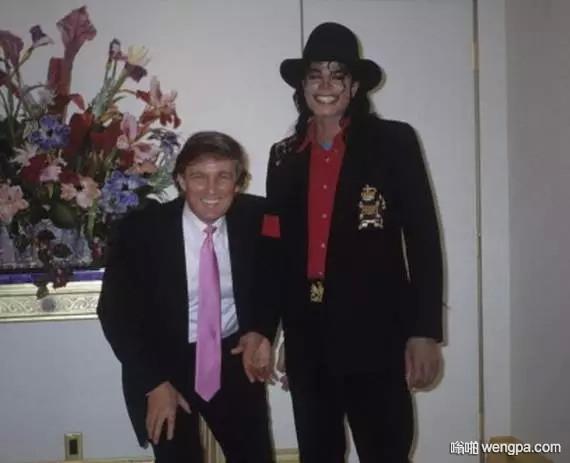 特朗普和迈克杰克在泰姬陵酒店