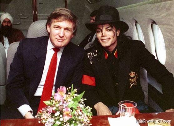 特朗普和迈克杰克逊合影  唐纳德川普与迈克尔杰克逊的故事