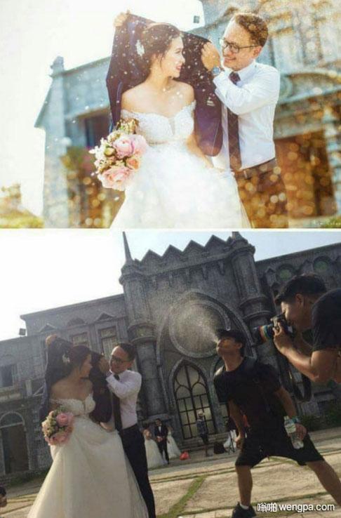 一些真相宁愿不要知道 拍婚纱照搞笑图片 - 嗡啪网