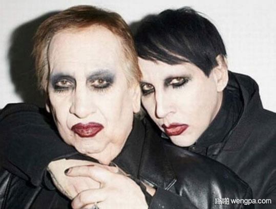 玛丽莲曼森和他父亲