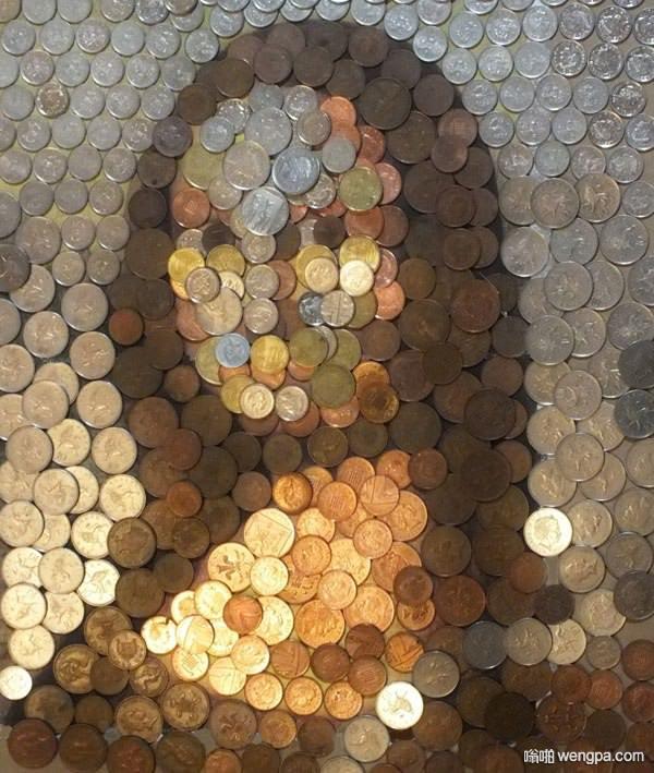 硬币蒙娜丽萨