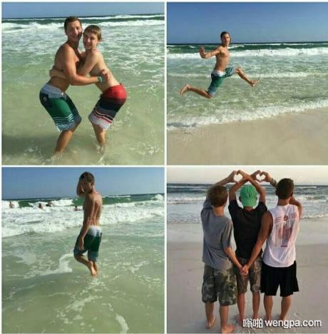 【搞笑图片】女孩如何在海滩上拍照 - 嗡啪网