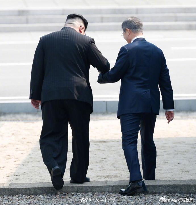 朝韩首脑历史性会面 金正恩文在寅板门店举行首脑会谈