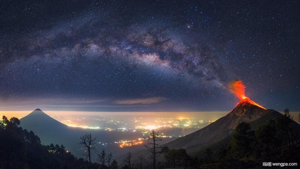 火山喷发与银河系连接