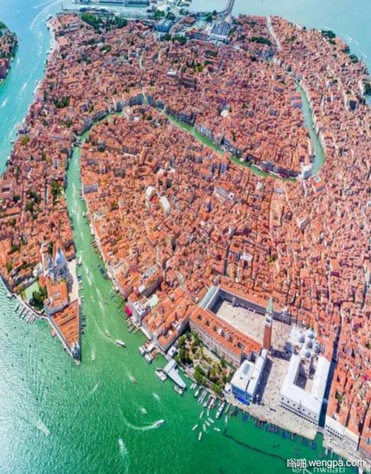 意大利威尼斯鸟瞰图