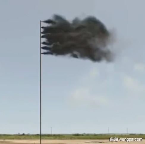 """最酷的国旗?黑色浓烟""""国旗"""""""