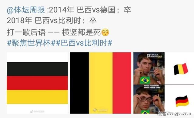 4 年前,他们在家门口1:7惨败给德国, 今天凌晨,他们再次输给一只国旗是红黄黑三色的球队。
