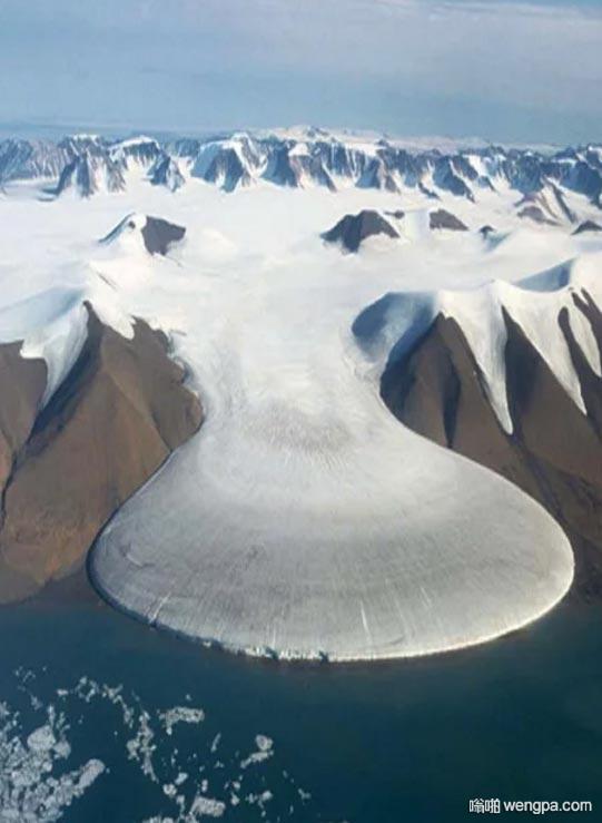 大脚象冰川,格陵兰岛,完美