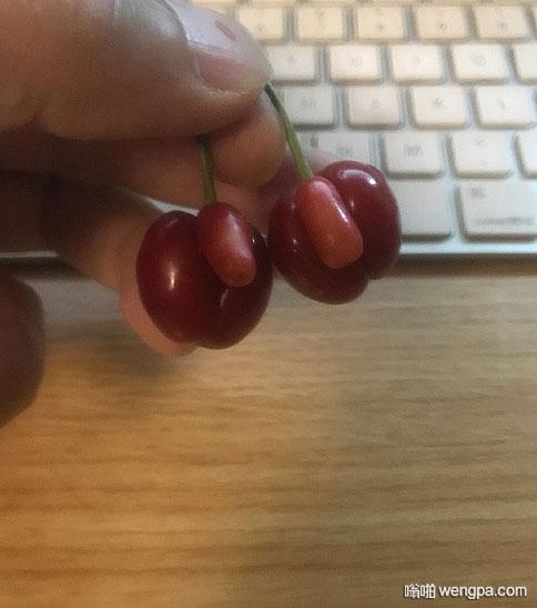 剩下这两樱桃实在吃不下去了