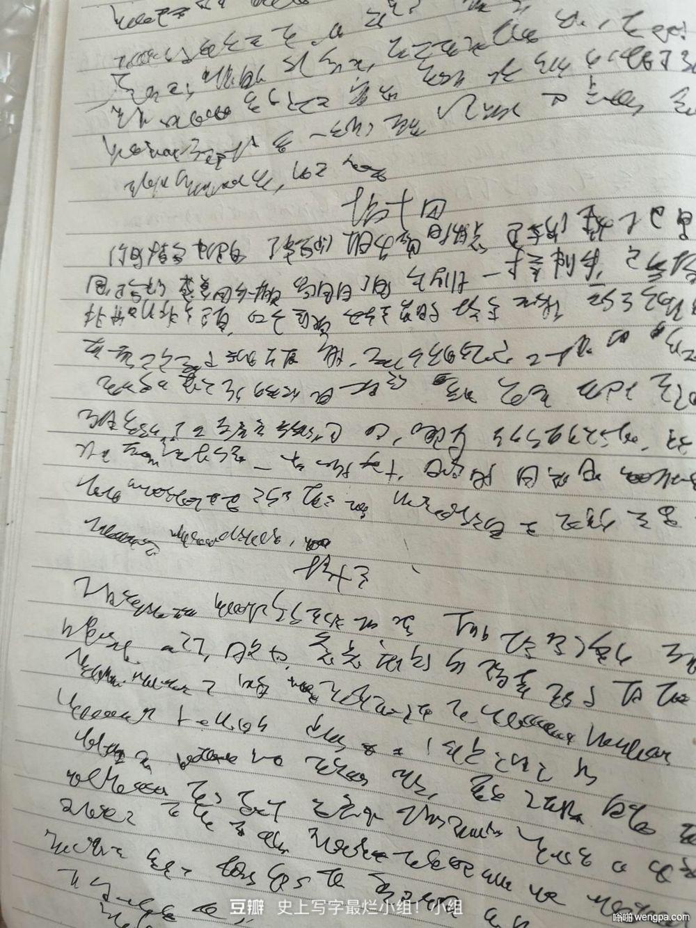 豆瓣史上写字最烂小组 字丑出天际(12p)