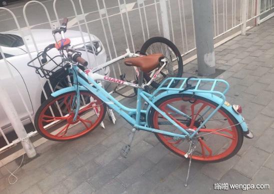 [搞笑图片]这辆摩拜单车经历了什么 - 嗡啪网
