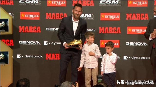 梅西创纪录获得第六座金靴奖