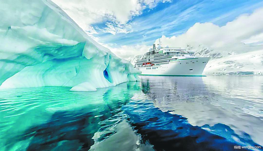 魔幻的南极蓝色冰雪