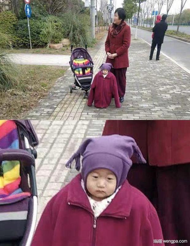 【搞笑图片】奶奶说怕孩子冻着 娃儿表情生无可恋啊