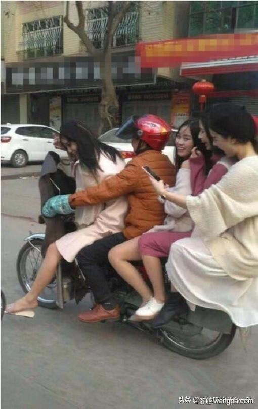 【搞笑图片】一个敢开 四个敢坐