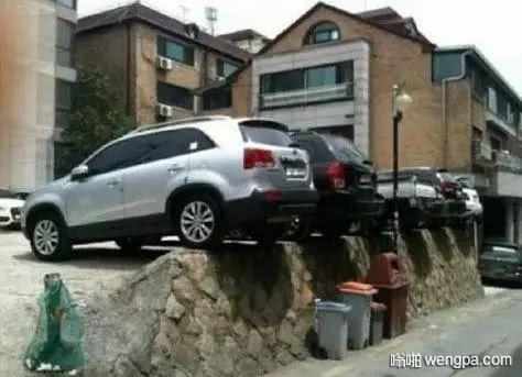 搞笑停车 都是老司机啊