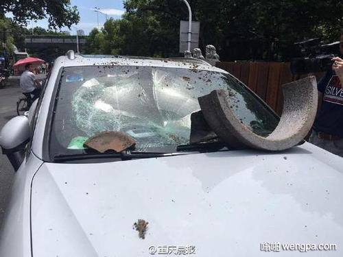 【搞笑段子】开窗户不小心把花盆碰了下去,正巧砸在一辆豪车上