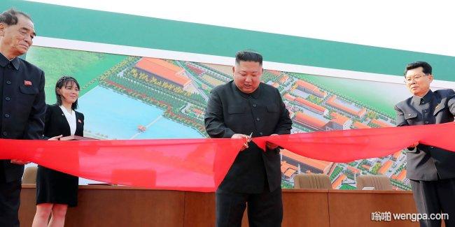 朝鲜媒体发布金正恩参加剪彩照片 身体无恙