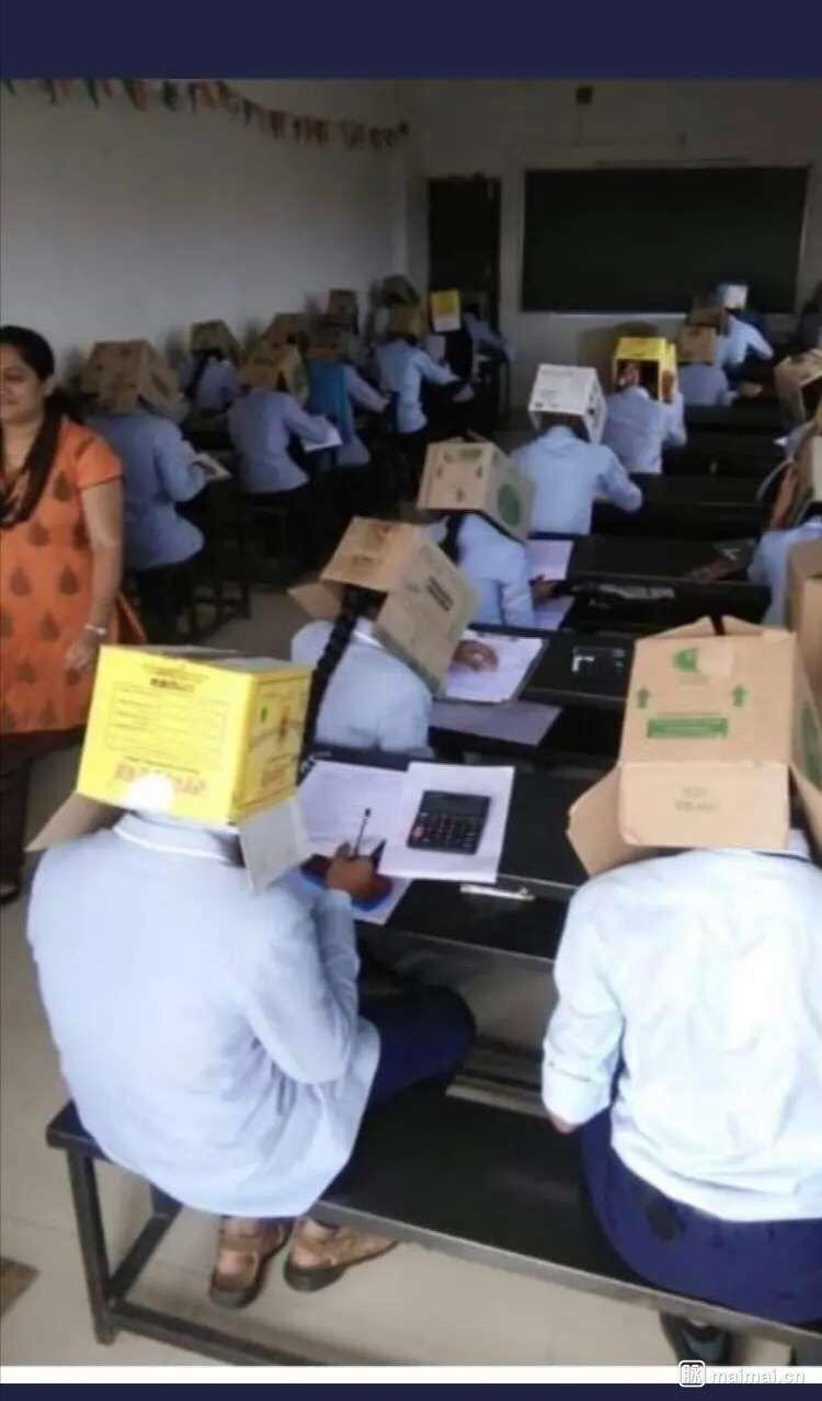 【搞笑图片】印度考试防作弊法