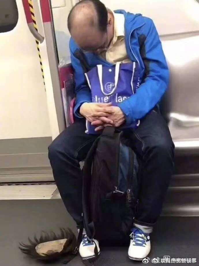 人艰不拆 加班累极了 睡着的时候假发掉在地上 酸了