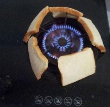 最新发明烤面包机,一次可以烤5片