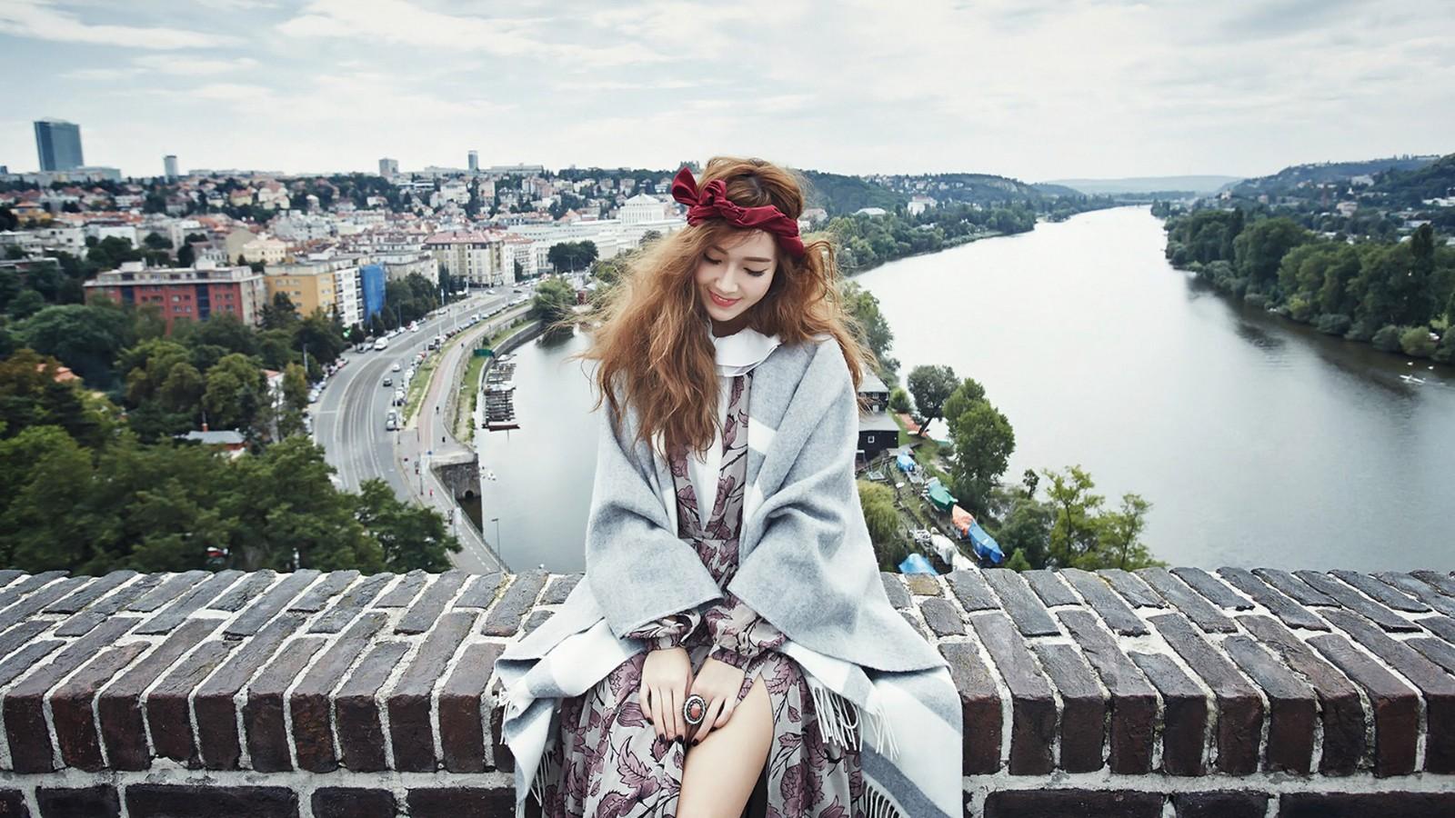 少女时代,郑秀妍,森林系,女孩,美女电脑壁纸