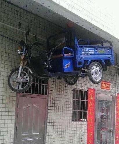 准备出趟远门,车子这么放着才安全