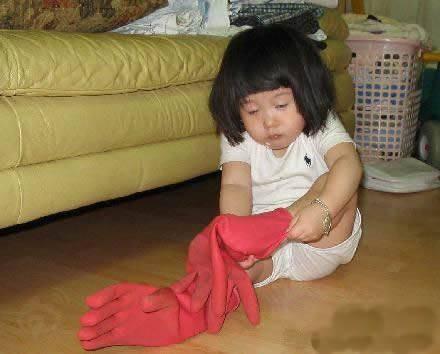 搞笑小孩系列之没睡醒的宝宝伤不起