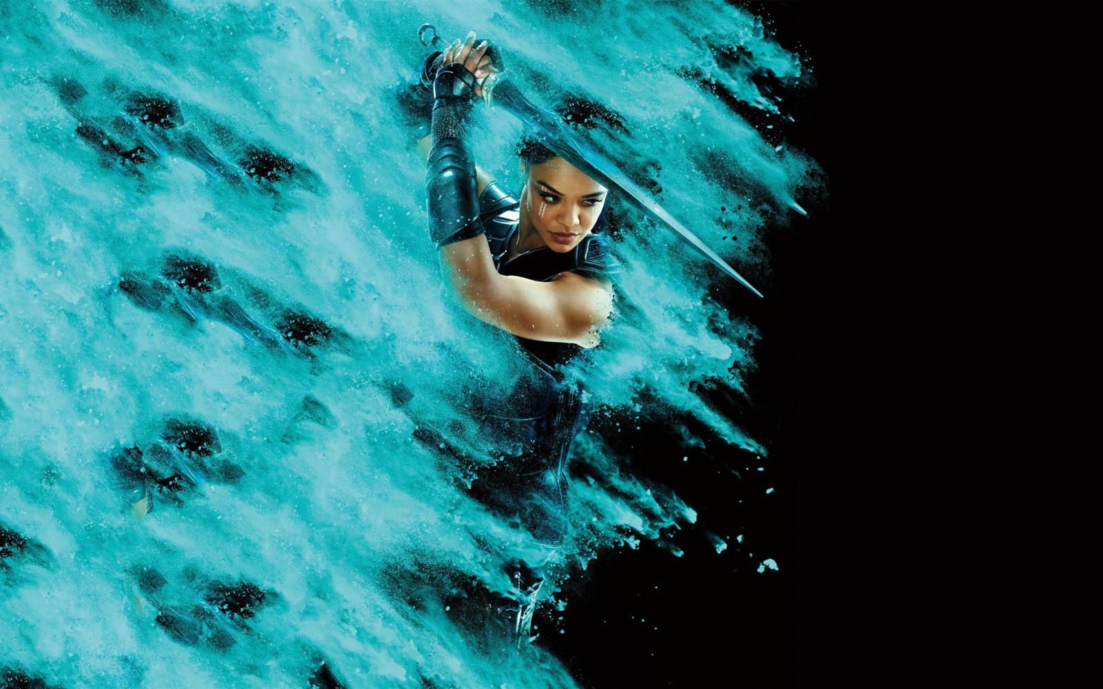 长发帅气日本女武士,雷神里的女战神高清电脑壁纸