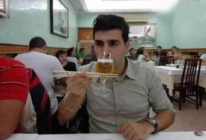喝酒要看技术