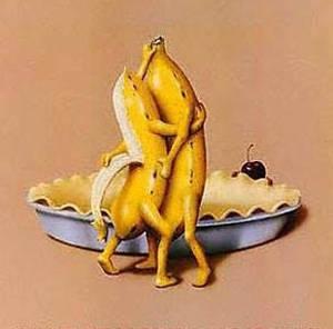 香蕉也跳脱衣舞恶搞图片